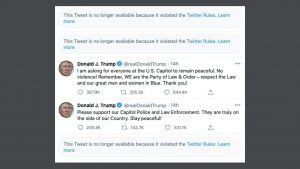 Facebook, instagram and twitter locks / blocks Donald Trump's accounts